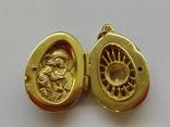 Кулон мощевик золото 925 камень серебро, фото №11