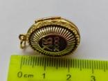 Кулон мощевик золото 925 камень серебро, фото №13