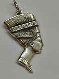 Кулон Нефертити серебро, фото №2