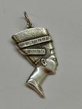 Кулон Нефертити серебро, фото №4