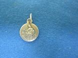 Кулончик-жетончик католический детский серебро., фото №2