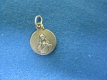 Кулончик-жетончик католический детский серебро., фото №3