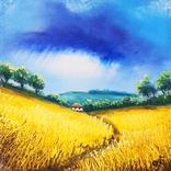 Картина, Шепіт дощу, 15х15 см. Живопис на полотні, фото №2