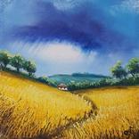 Картина, Шепіт дощу, 15х15 см. Живопис на полотні, фото №4