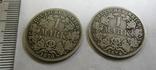 1 марка, две монеты, 1874, 1875 гг., фото №2