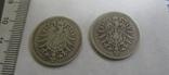 1 марка, две монеты, 1874, 1875 гг., фото №4