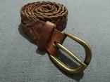 Пояс Старинный кожаный плетённый ремень Германия, фото №5