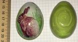 Шкатулка жестяная, пасхальное яйцо, зайчик (кролик), фото №2