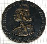 Современная медаль по типу Сперандио копия монеты, фото №2