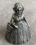 Старинный вызовной колокольчик (серебро 800 пр, вес 83,4 гр), фото №2