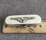 Серебряная шкатулочка/ таблетница/ игольница (серебро 800 пр, вес 26 гр), фото №9