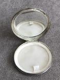 Винтажная серебряная пудреница с зеркалом, штихель (серебро 800 пр, вес 54 гр), фото №7