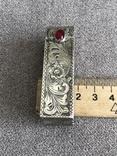 Серебряная винтажная помадница, штихель (серебро 925 пр, вес 27 гр) Италия, фото №12