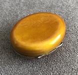 Винтажная серебряная шкатулочка/ таблетница в эмалях Персик (серебро 800 пр, вес 21,3 гр), фото №5