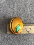 Винтажная серебряная шкатулочка/ таблетница в эмалях Персик (серебро 800 пр, вес 21,3 гр), фото №10