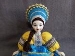 Кукла Барышня в кокошнике Фарфоровая, фото №3