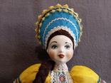 Кукла Барышня в кокошнике Фарфоровая, фото №4