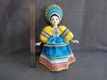 Кукла Барышня в кокошнике Фарфоровая, фото №10