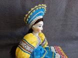 Кукла Барышня в кокошнике Фарфоровая, фото №13