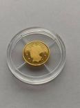 25 2003 год Либерия золото 1/50 унц. 9999`, фото №2