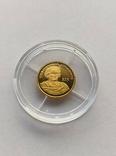 25 2000 год Либерия золото 1/50 унц. 9999`, фото №2