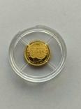 25 долларов 2001 год Либерия золото 1/50 унц. 9999`, фото №2