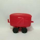 Игрушка Ссср вагон вагончик полиэтилен 14 см., фото №2