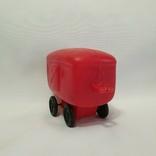 Игрушка Ссср вагон вагончик полиэтилен 14 см., фото №6