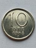 Швеция 10 оре 1948 г., фото №2