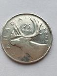 Канада 25 цент. 1951 г., фото №2