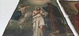 Иконы Богородицы и крещение господне написаны на коже 43/34см, фото №7