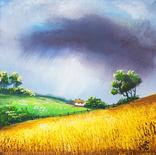 Картина, Розмова неба та землі, 15х15 см. Живопис на полотні, фото №2