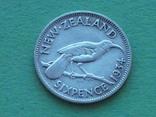 Новая Зеландия 1934 6 пенсов, Георг V, фото №5