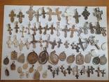 Крестики нательные православные. Большой лот. Серебро 925. Вес 226 г., фото №3