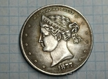 Доллар 1877 копия, фото №2
