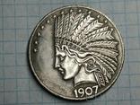 Доллар 1907 копия, фото №2