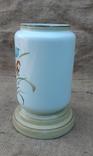 Низ керосиновой лампы стекло нач.20 века ручн роспись, фото №3