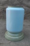 Низ керосиновой лампы стекло нач.20 века ручн роспись, фото №4