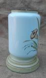 Низ керосиновой лампы стекло нач.20 века ручн роспись, фото №5