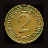 Германия 2 пфеннига 1923, фото №2