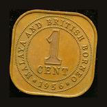 Стрейтс Сеттлементс 1 цент 1956, фото №2