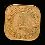 Британская Малайя 1 цент 1945, фото №2