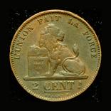 Бельгия 2 сантим 1870, фото №2
