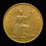 Великобритания пенни 1948, фото №3