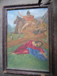 Картина старая размер 40х35 см., фото №3