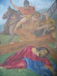 Картина старая размер 40х35 см., фото №4