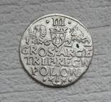 Трояк 1622 г. Сиг. ІІІ Ваза, фото №2