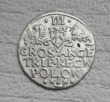 Трояк 1622 г. Сиг. ІІІ Ваза, фото №3