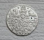 Трояк 1622 г. Сиг. ІІІ Ваза, фото №6