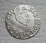 Трояк 1622 г. Сиг. ІІІ Ваза, фото №7